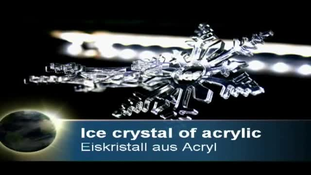 Ice chrystals made of acrylic | Laser cutting
