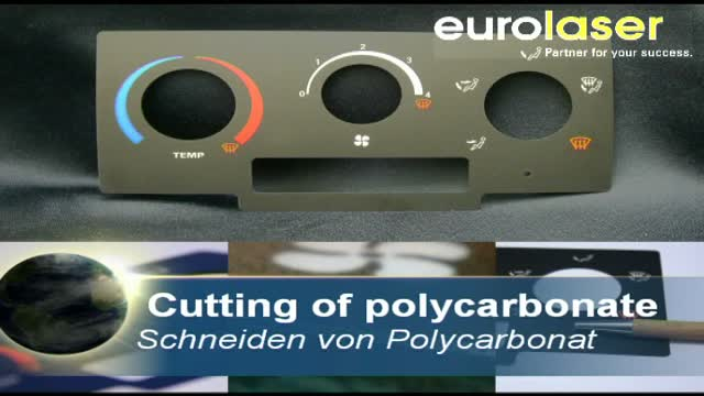 Printed polycarbonate film for the automotive industry | Laser cutting