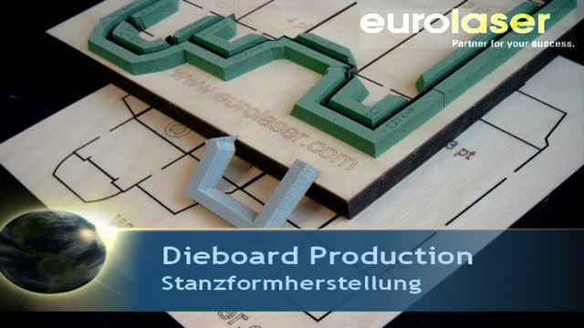 Dieboard production | Laser cutting and marking