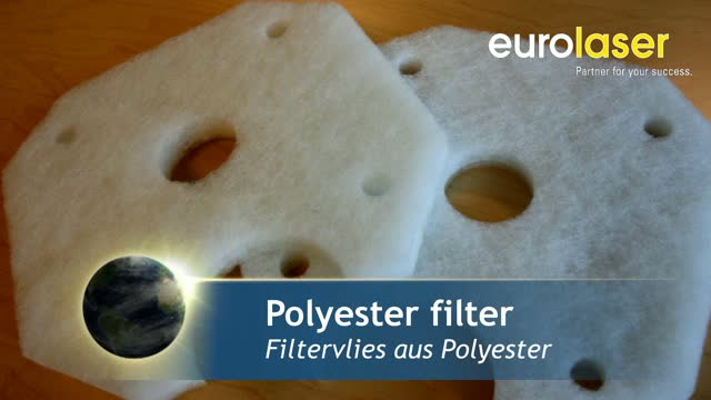 Filter fleece of polyester | Laser cutting