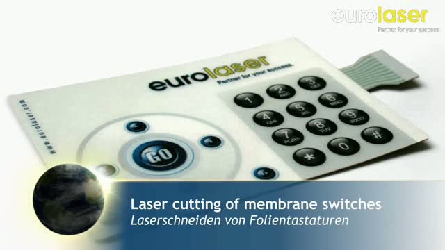 Membrane switches of polycarbonate | Laser cutting