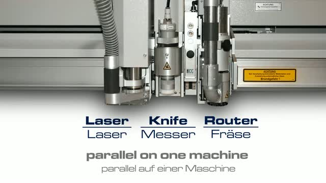One machine - three tools parallel | Router, knife, laser