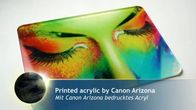 Acrylic printed by Canon Océ Arizona | Laser cutting