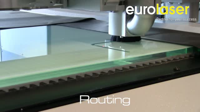 Acrylic (10 mm) processing with two tools | Laser cutting, routing