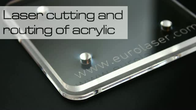 Acrylic (6 mm) processing with two tools  | Laser cutting, routing