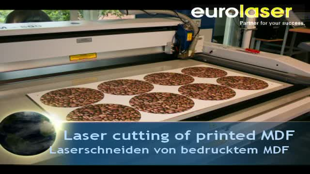 Printed MDF base plates for trays | Laser cutting