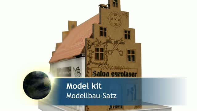Model house made of 6 materials | Laser and knife cutting