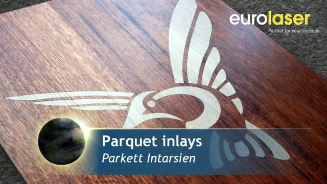High-quality wood parquet inlays | Laser cutting