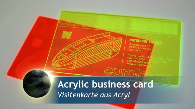 Acrylics business cards | Laser marking