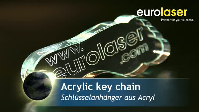 Glass look acrylic key chain | Laser cutting and engraving