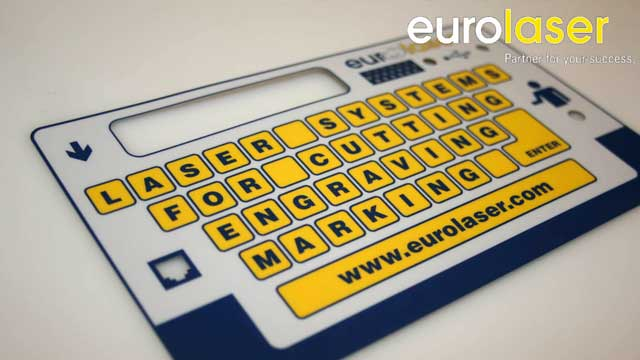 Membrane switches | Laser cutting with Shuttle Table System