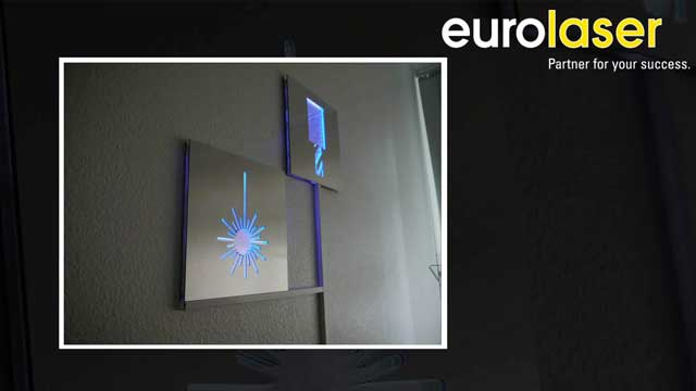 Sign made of acrylic and Dibond | Laser cutting and routing