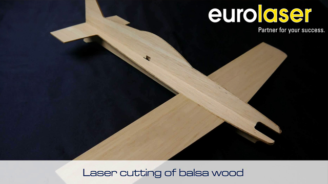 Model aircraft made of balsa wood | Laser cutting